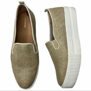 Halogen Baylee Platform Sneakers Slip On Straw 8.5